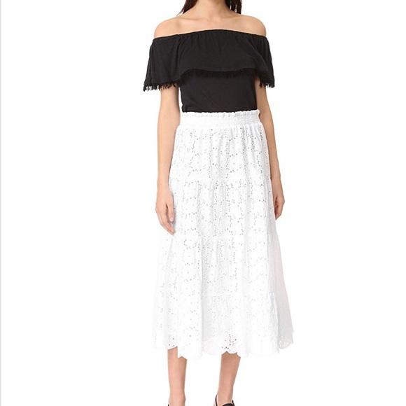 2370b4b0f8 Tory Burch Skirts | New Broderie Eyelet Midi Skirt S | Poshmark